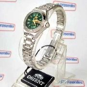 Relógio Orient Automatico Feminino Mini Verde Fnq18004f9