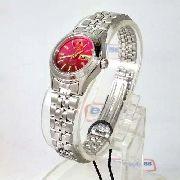 Relógio Orient Automatico Feminino Mini Rosa Fnq04005h9