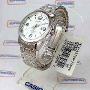 Relógio Masculino Casio Analógico Aço Branco 100% Autentico