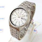 Relógio Automatico Seiko Branco 100%autentico 1ano Garantia