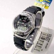 Aq-180w-1bv Relógio Casio Masculino Ana-digi  Bateria 10anos Luz Wr100m