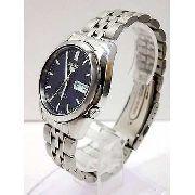 Relógio Automatico Seiko Azul snk357k1 aço inox 37mm