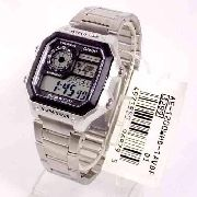 AE-1200WHD-1AVDF Relógio Casio World Time Map  Wr100