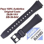 Pulseira Casio Db-36 1av Db-36-9av 100% Original (18mm) *