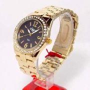 Relógio Condor Dourado Feminino Cristais Kw85077p - 38mm