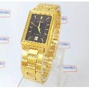 Relógio Orient Dourado Preto 28mm Quartz Original FUNAX001B0