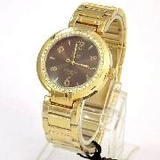 Relógio Feminino Dumont Dourado Cristais Swarovski Sw85026r