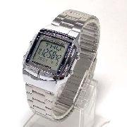 Relógio Casio Prateado Databank Retrô Vintage Db-360-1adf