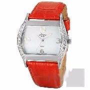 Relógio Condor Feminino Pulseira Couro Vermelho Kw35200v