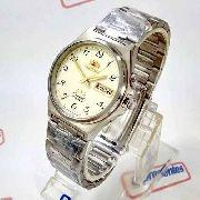 Relógio Orient Automático Aço 21jewels Bege Unissex FEM5M014C9