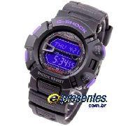Relógio Casio G-shock Mudman Preto/purpura G-9000BP-1dr