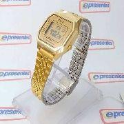 Relógio Feminino Casio Digital Dourado Vintage La680wga-9df