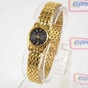 Relógio Feminino Orient Mini Dourado SUB4L001B0 Quartz Retrô