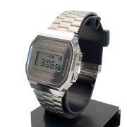A168WEM-7DF Relógio Casio Retro Prateado espelhado 100% Original
