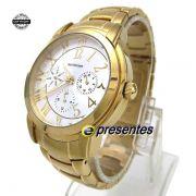 AH30111H Relógio Feminino Ana Hickmann Gold Original + Bolsa