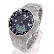AMW-708D-1AV Relógio Casio Fishing Gráfico Pesca/lua aço inox WR100- 100% Original