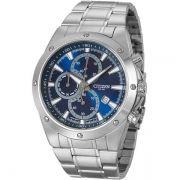 AN3530-52L Relógio Citizen Masculino Cronógrafo Fundo Azul Quartz WR100m