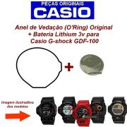 Anel de Vedação O'Ring + Bateria Casio G-Shock GDF-100 (TODOS)