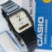 AW-48HE-7aV Relógio Masculino Casio Anadigi Fundo Branco/Prata