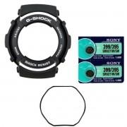 Bezel Casio G-Shock G-301 G-304 + 2 Baterias + Anel Vedação Traseiro