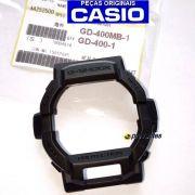 Bezel Preto Fosco GD-400MB-1, GD-400-1 Casio G-Shock - Peça 100% Original