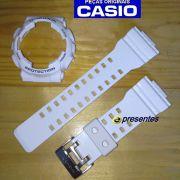 Bezel + Pulseira bezel GD-110-7a Casio G-shock Branco Brilhante Verniz