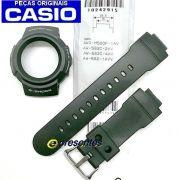 Bezel + Pulseira Casio 100% Original - Resina Preta G-shock Aw-582