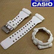 Bezel + Pulseira Casio G-shock Branco Fosco GA-110BC-7A GD-100WW-7A