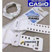 Bezel + Pulseira Casio G-shock Branco Fosco GAX-100A-7A