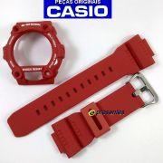 Bezel + Pulseira Casio G-shock Vermelho G-7900 100% Original