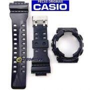 Bezel + Pulseira GD-110-1 Casio G-shock Preto Brilhante