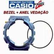 Bezel + Vedação Ga-110 Ga-100 Casio G-shock Preto Fosco