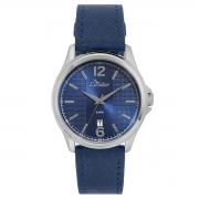 CO2115KTD/2A  Relógio Condor Feminino Azul Pulseira Couro Azul 44mm