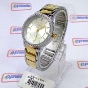 COPC21AF/5K Relógio Feminino Condor Dourado Prateado c/ Strass