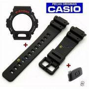 Pulseira + Bezel + Botão Frontal Iluminação Dw-6900-1v, DW-6600 Casio G-Shock