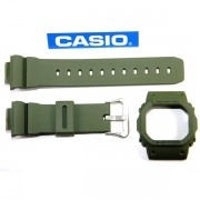 KIT BEZEL + Pulseira Original Casio G-shock DW-5600m-3 Verde Militar