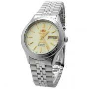 FEM0301XC9 Relógio Masculino Orient Automatico Prateado 36mm Autentico