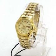 Fnq0400bc9 Relógio Feminino Orient Mini Automatico Dourado
