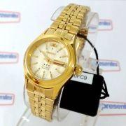 FNQ0400FC9 Relógio Feminino Orient Mini Automatico Dourado 25MM