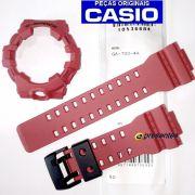 GA-700-4a Pulseira e Bezel Casio G-shock Resina Vermelha