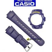 Kit Bezel + Pulseira Casio G-shock Azul G-2900 100% Original