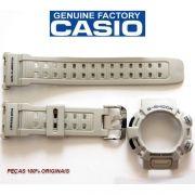 Kit Bezel +Pulseira Casio G-shock Mudman G-9000 Cinza 100% Original