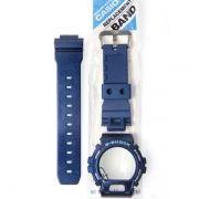 Kit DW-6900cc-2 100% Original Pulseira + Bezel Azul Casio G-Shock