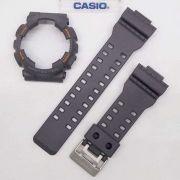 Kit Pulseira + Bezel Capa Casio G-shock Ga-110TS-1a4 Cinza