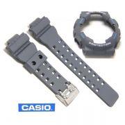 Kit Pulseira + Bezel Capa Casio G-shock GA-110TS-8A2 Cinza