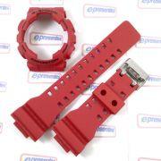 "Kit Pulseira + Bezel Capa Casio G-shock vermelho Ga-100b-4 / ga-110fc ""Original"""