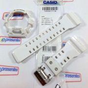 Kit Pulseira + bezel Casio G-shock Branco Brilhante GR-8900A