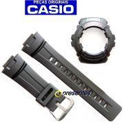 Kit  Pulseira + Capa Bezel Casio G-shock G-100 G-101 Preto - 100% Original