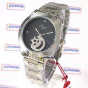 Kw25659p Relógio Condor Feminio Pingente Lua Estrela Strass
