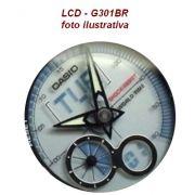 LCD Relogio Casio G-shock G-301br  Peça Original Nova